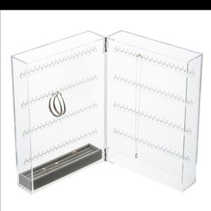 Muji acrylic earring&necklace storage/display case